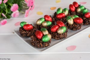 Nids de paques chocolat facile - Idée recette pâques - au fil du thym
