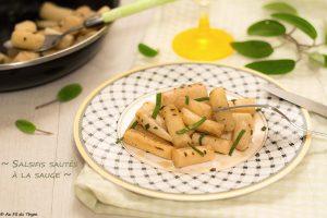 Salsifis sautés à la sauge - idéee recette accompagnement pâques ou légumes d'hiver - au fil du thyl