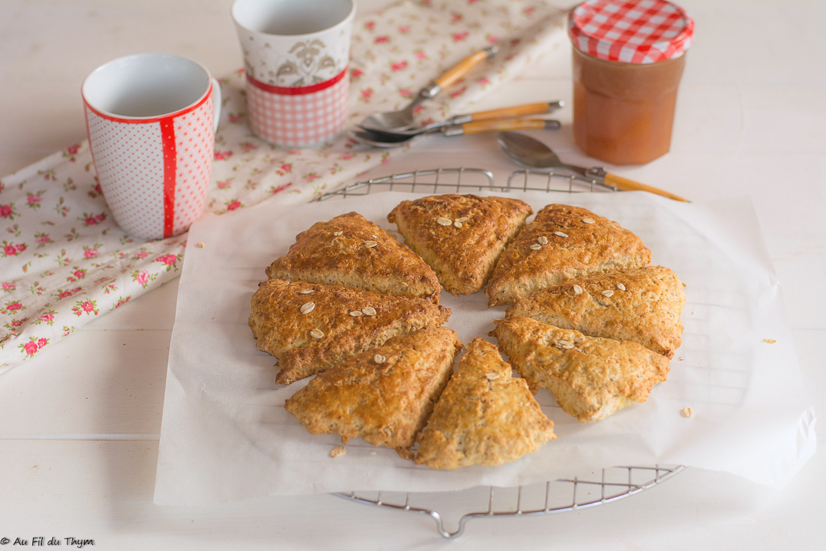 Scones au citron et flocons d'avoine