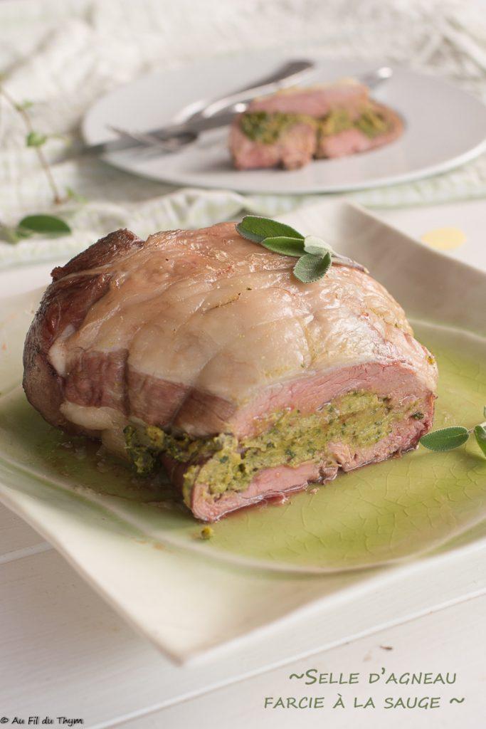 selle agneau farcie épinards et sauge - Idée recette #paques ou plus - au fil du thym