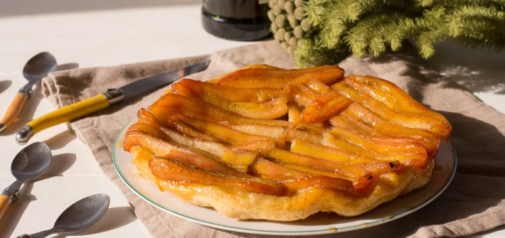 Tatin banane caramel rhum - recette dessert d'hiver - Au Fil du Thym