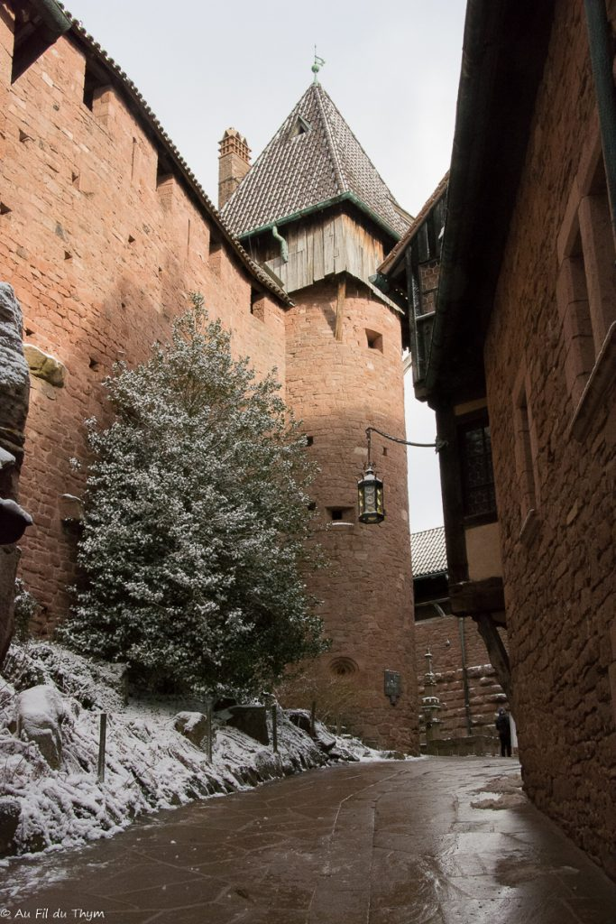 Entrée du château Haut Koenigsbourg