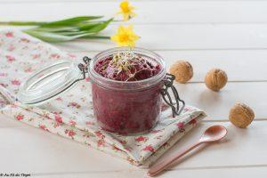 Houmous lentilles betterave noix - idée #apero #veggie au fil du thym