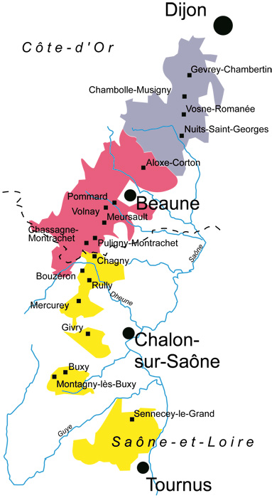 Carte Bourgogne Viticole.Escapade Autour Des Grands Crus De Bourgogne Cote D Or Au Fil Du