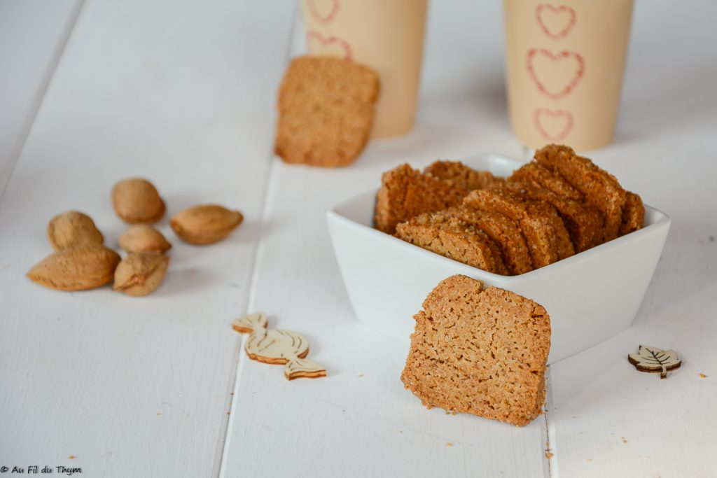 biscuits purée amande bio - recette gouter biscuit amande facile - Au fil du Thym