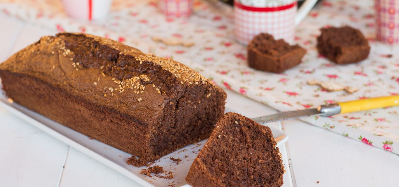 cake chocolat sésame - recette cake léger - recette cake du matin chocolat noir et sésame - Au Fil du Thym