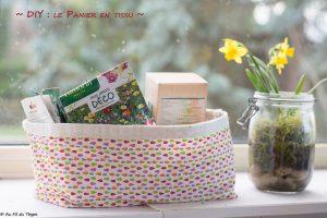 DIY panier tissu facile - au fil du thym