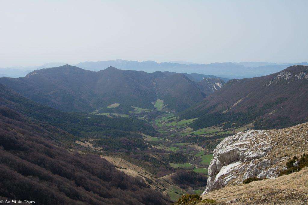 Vue sur la vallée d'Omblèze