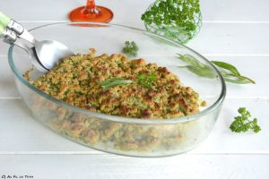 poisson crumble herbes - recette printemps facile - recette poisson herbes - au fil du thym