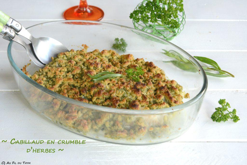 poisson crumble herbes - recette printemps facile - recette poisson herbes