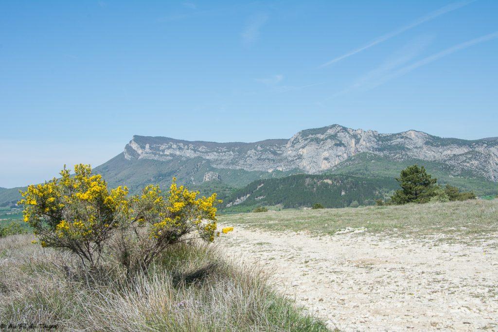 Randonnee saou Bois sec Vaire - Retour à francillion sur roubion via le plateau de Vaire