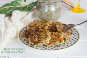 rostis blette flocon avoine provencale - au fil du thym