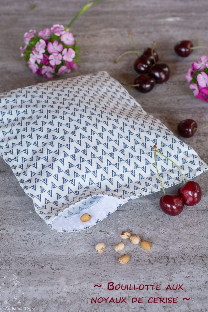 DIY bouillotte sèche noyaux cerise - DIY récup et zéro déchet très facile et utile ! Au fil du thym