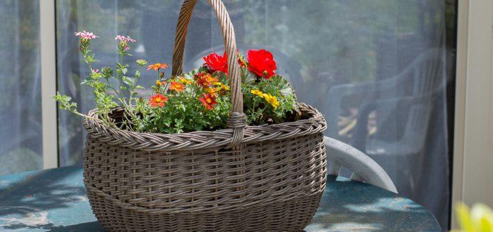 DIY panier rehabilite jardiniere