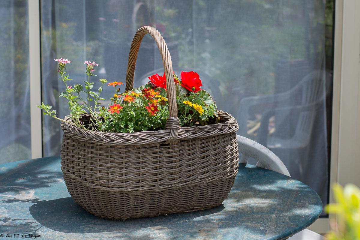 ~ DIY ~ Réhabiliter un panier en jardinière