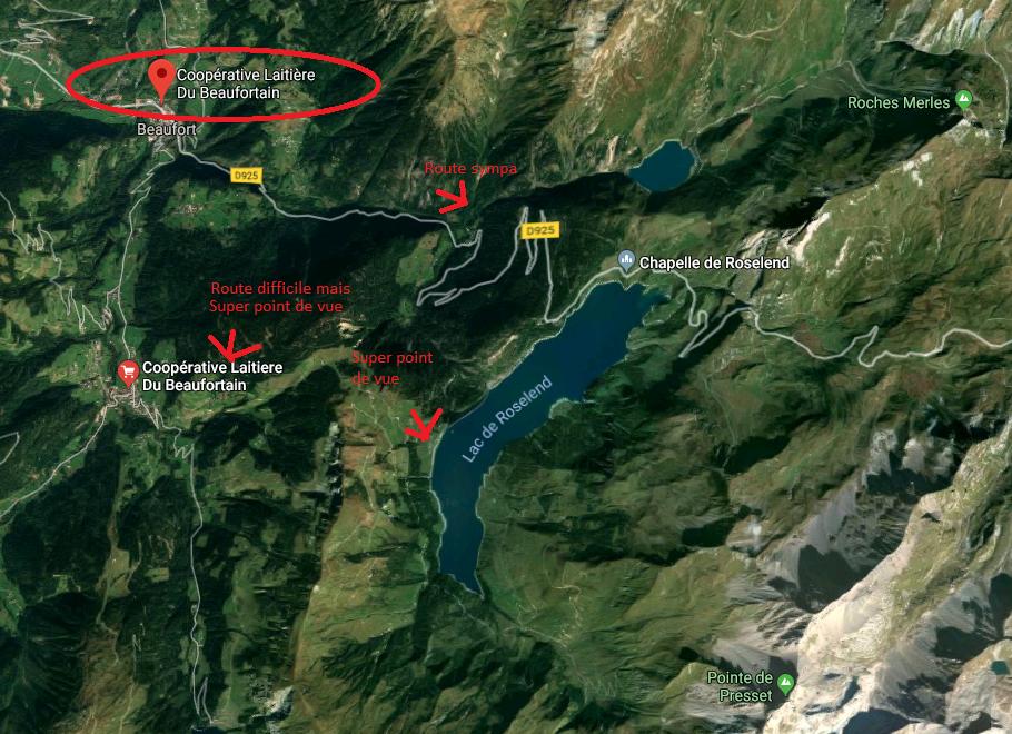 Carte du Beaufortain et des coins à visiter