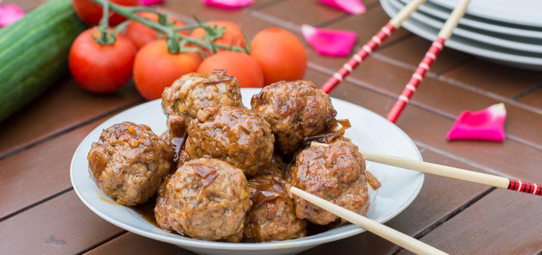 boulette laquée au porc et sauce soja - recette boulette facile - Au Fil du Thym