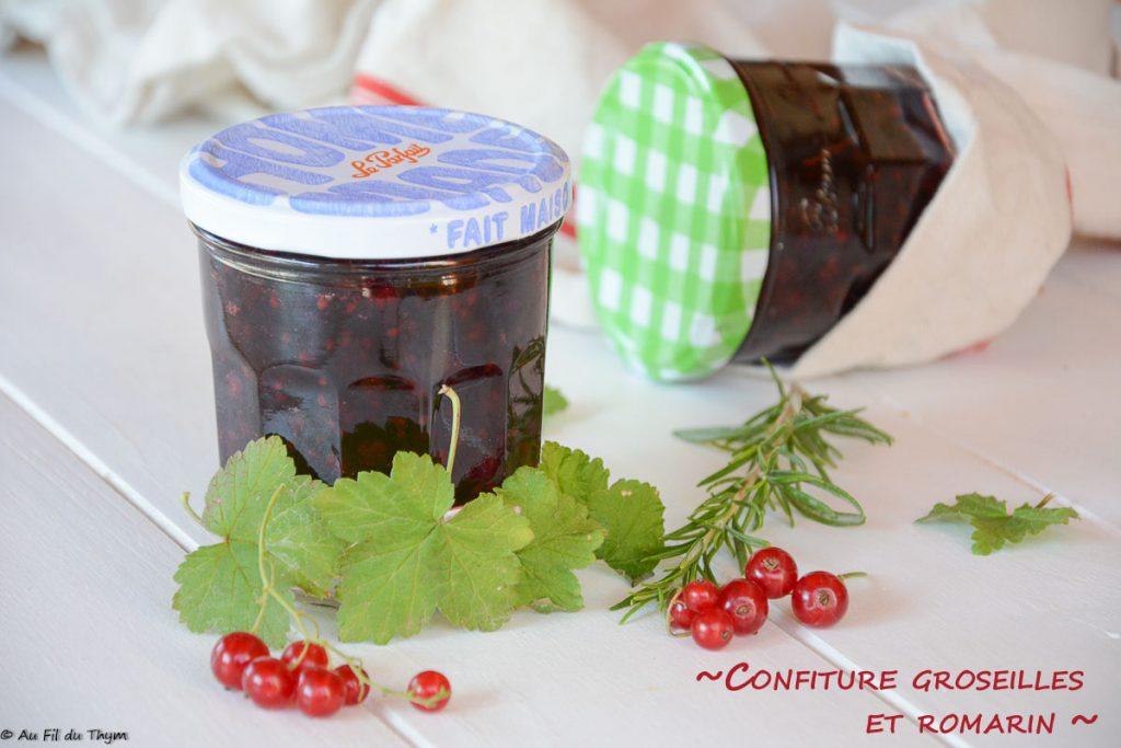 confiture groseille romarin facile - recette groseille idéale pour en déguster toute l'année !