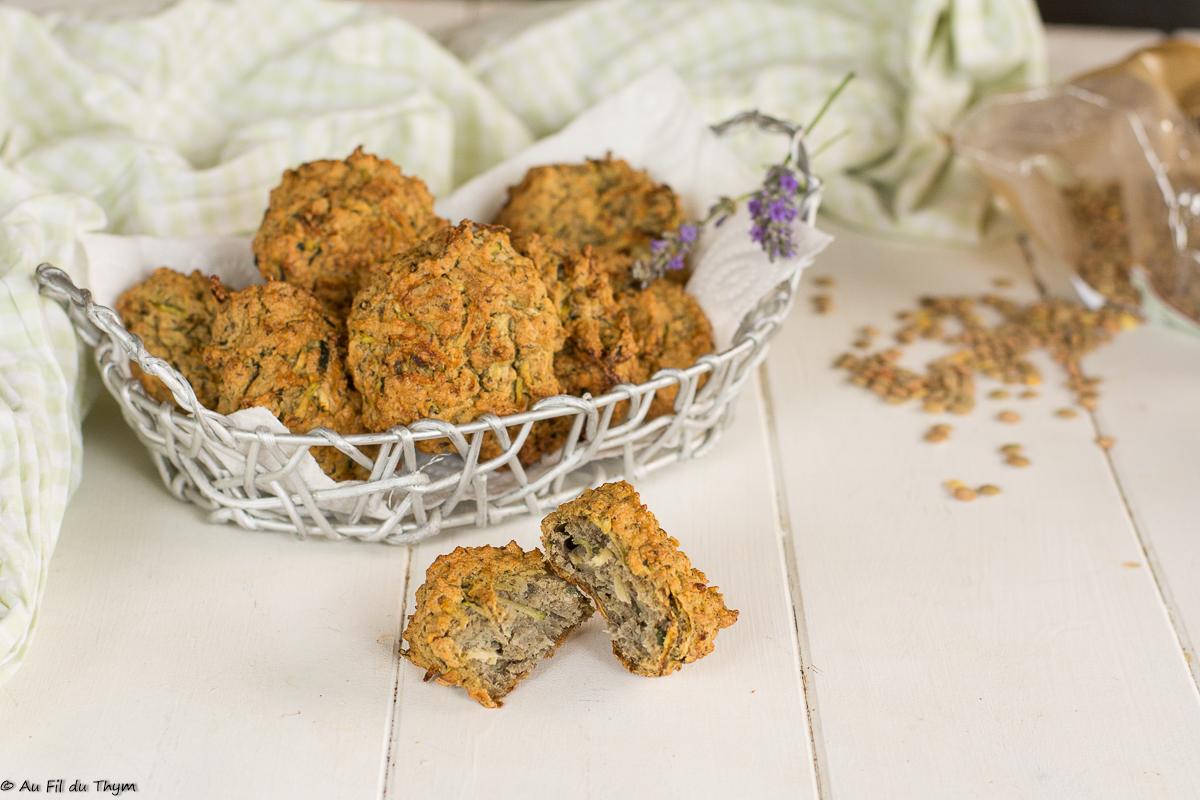 Cookies salés aux lentilles et courgette