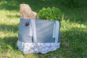 Idées écolos juillet : réaliser un sac cabas en tissu fait main - Au fil du Thym