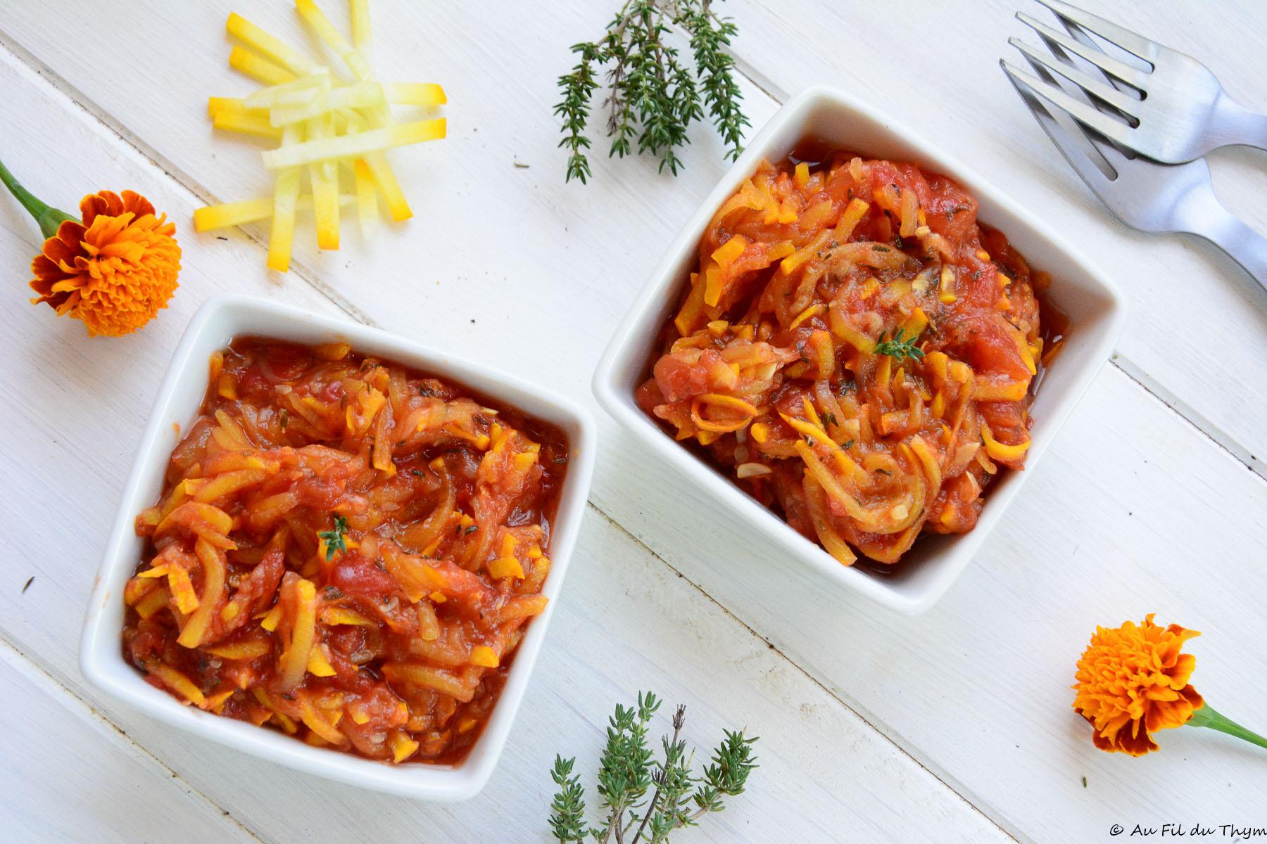Compotée courgettes & tomates (à déguster ou conserver)