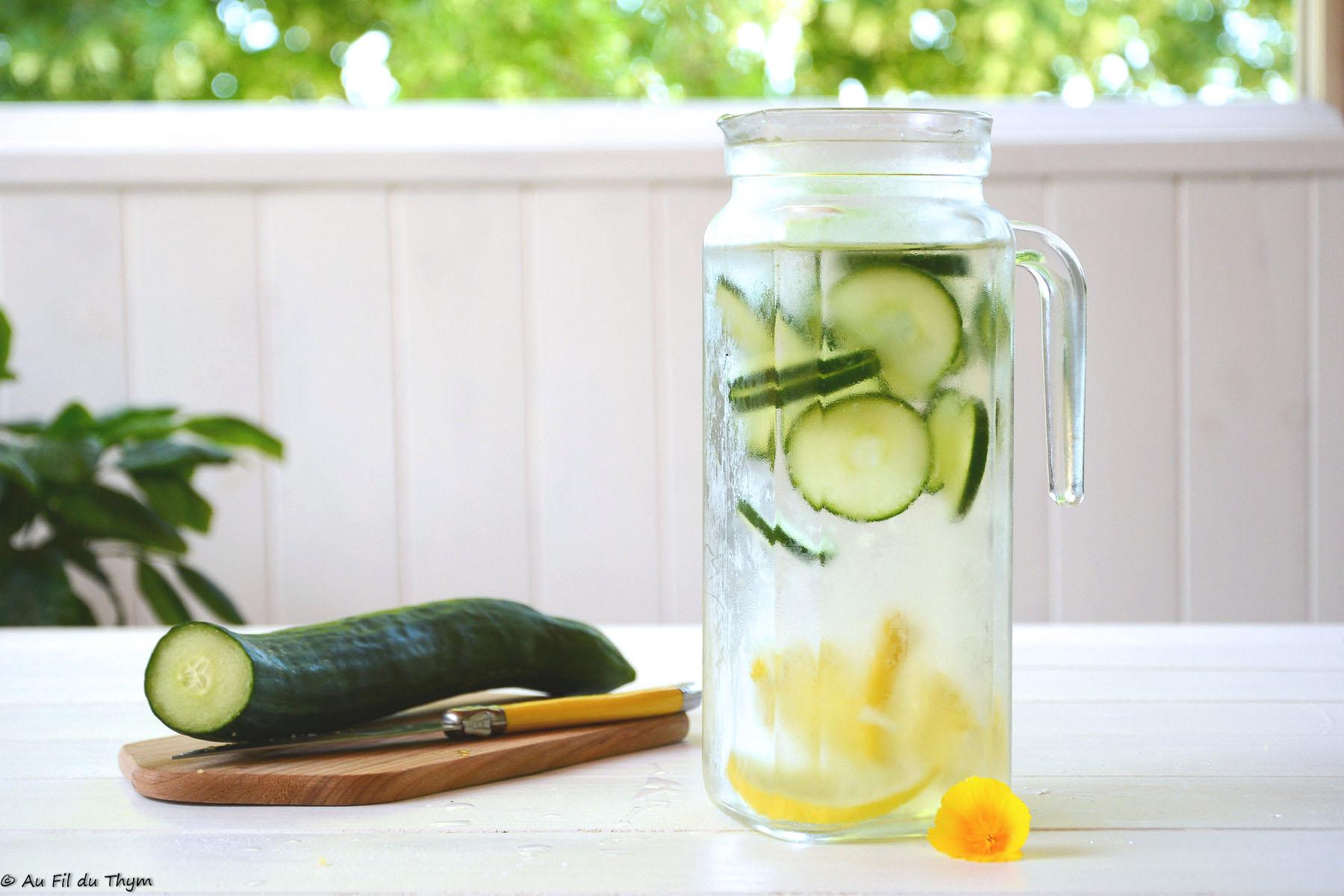 Détox water concombre & citron