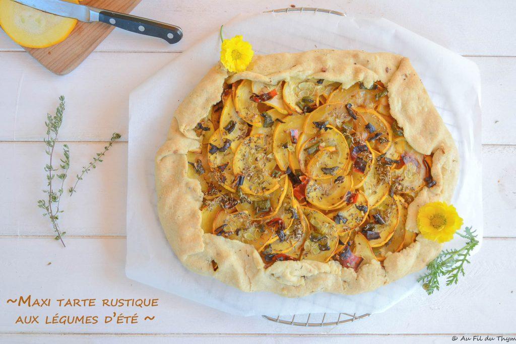 maxi tarte rustique legumes été - Idée pour un repas été facile et délicieux - au fil du thym