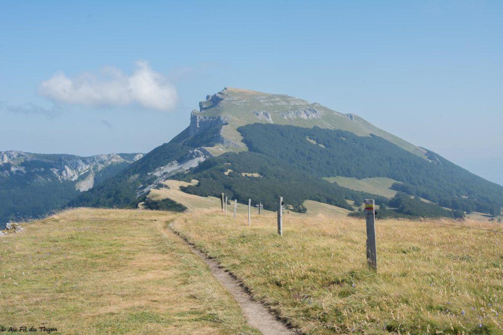 Randonnée plateau d'Ambel - Vue sur le roc de Touleau