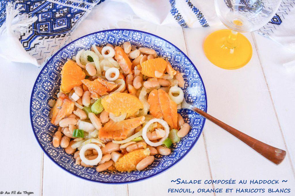 salade haddock fenouil haricot blancs orange- au fil du thym