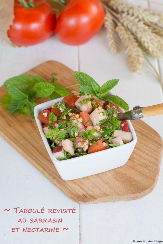 Taboulé revisité sarrasin et nectarines