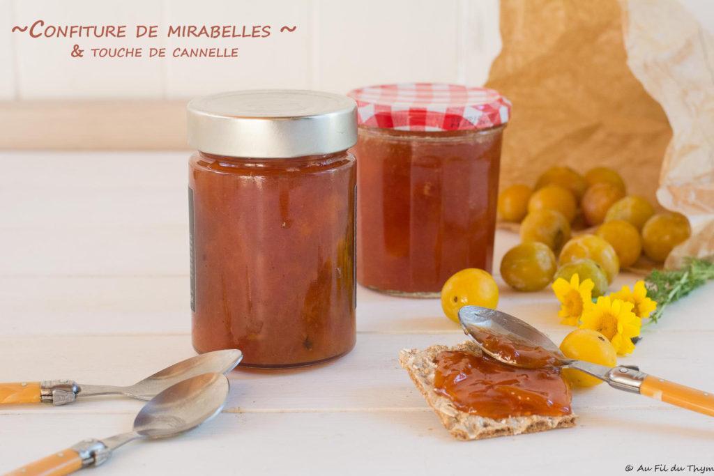 Confiture mirabelles cannelle - recette été facile