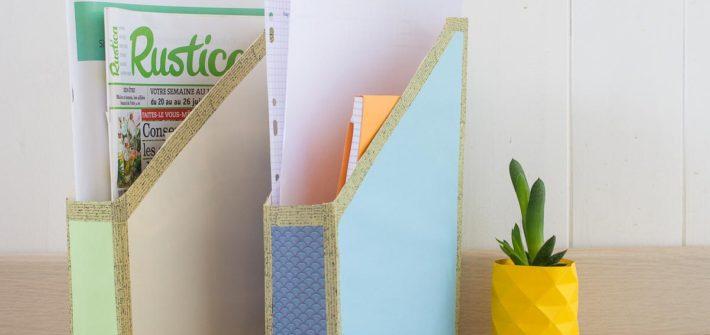 DIY trieur carton récupéré