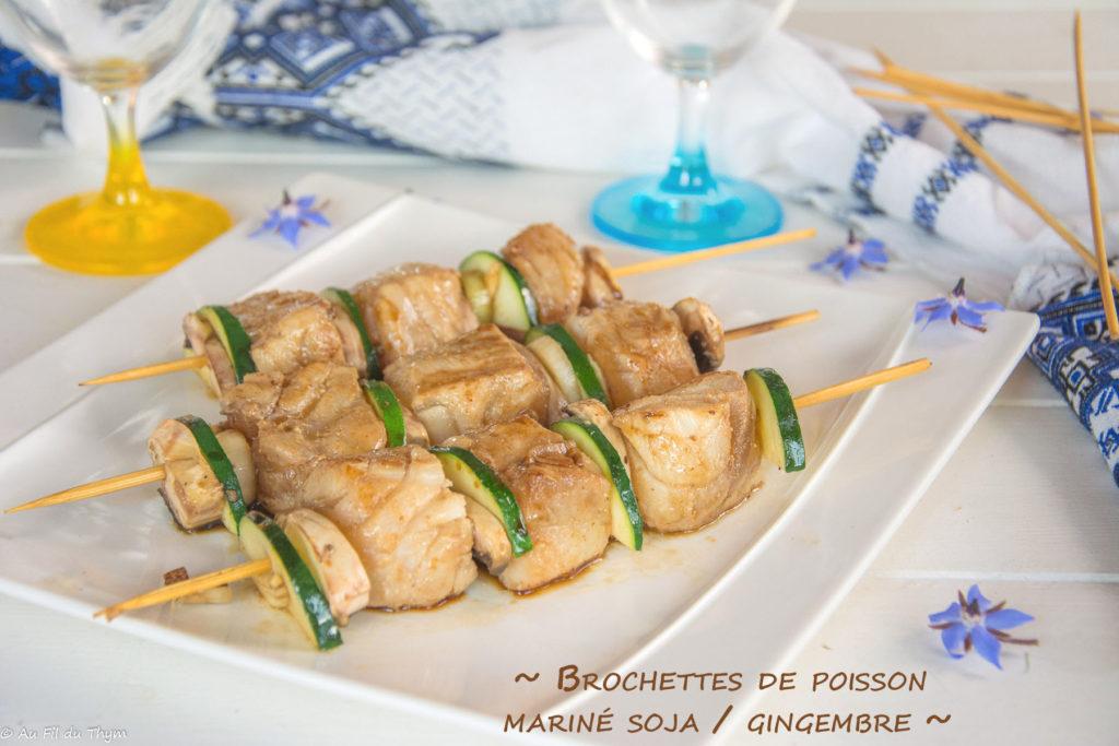 brochette poisson soja gingembre - une idée originale pour les repas d'été.