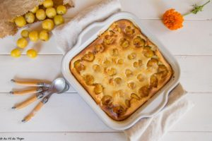 Far aux mirabelles - Un dessert été / desserrt mirabelles facile à réaliser