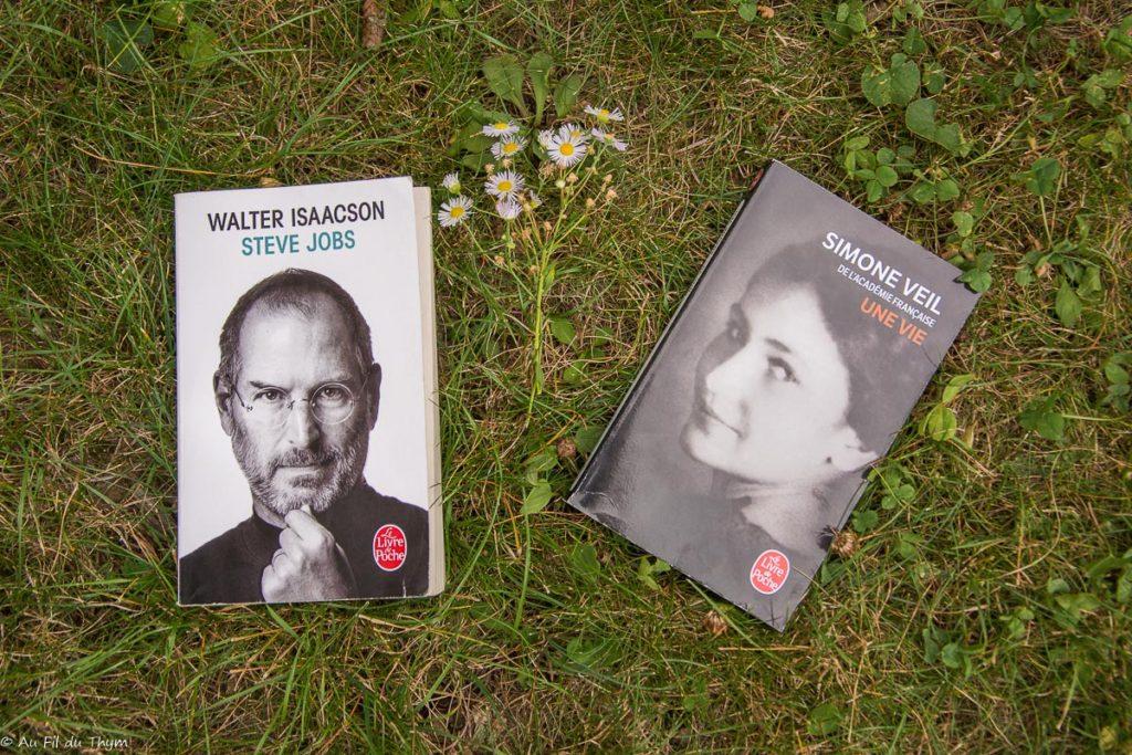 lectures août 2018 : Biographie Steve Jobs & Simone Veil