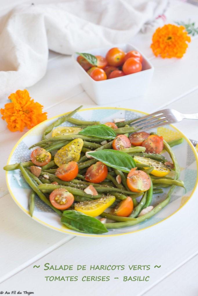 salade haricots verts tomates cerises basilic -  - au fil du thym