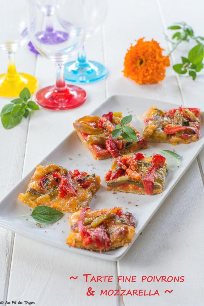 tarte fine poivron mozzarella - Idée cuisine été facile et délicieuse
