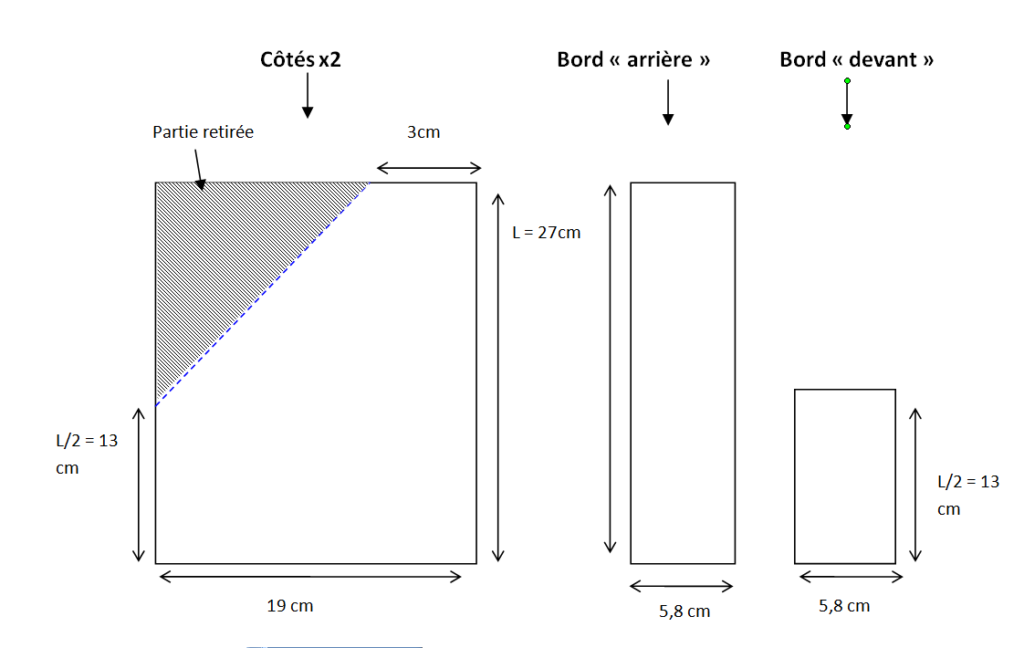 DIY trieur carton - schema découpe
