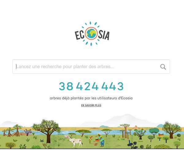Ecosia - Moteur de recherche qui plante des arbres
