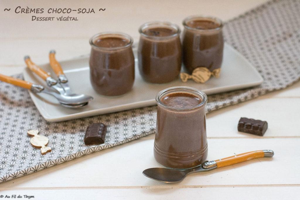 Crème chocolat soja - crème dessert soja