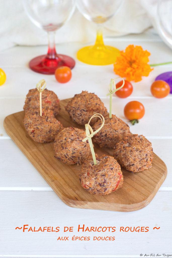 Falafels haricots rouge épices douces - au fil du thym