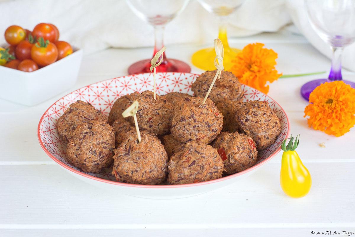 Falafels de haricots rouges aux épices douces {et au four}