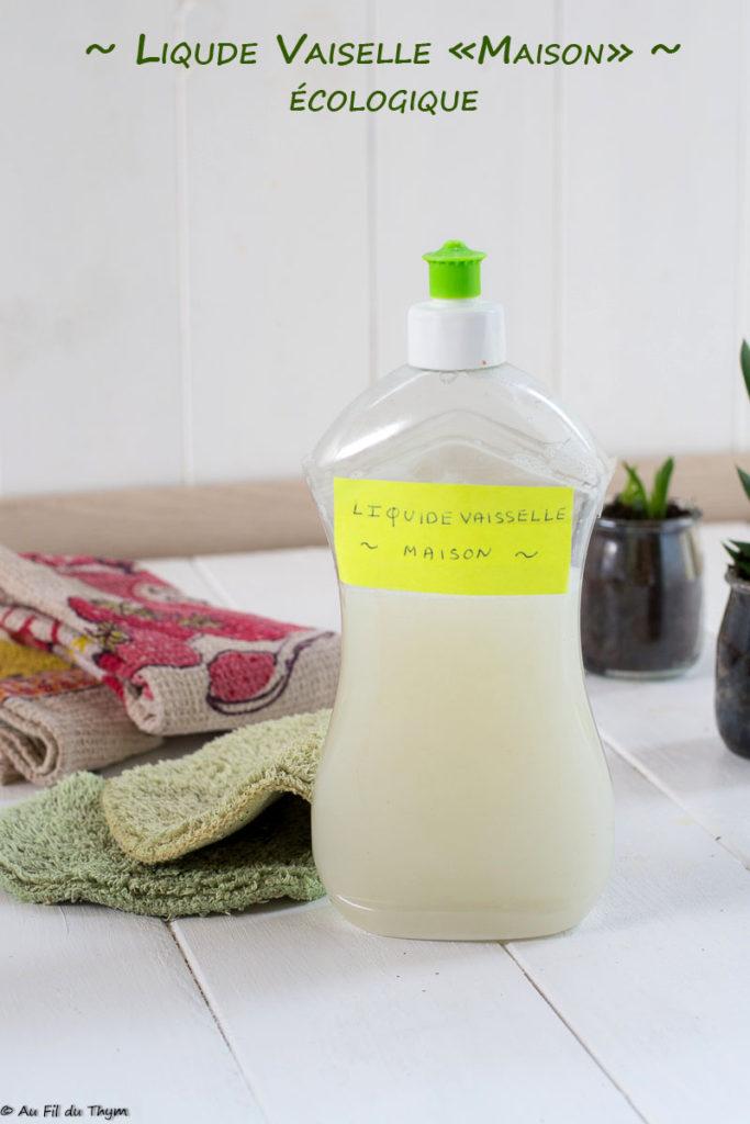 liquide vaisselle maison & écologique - au fil du thym