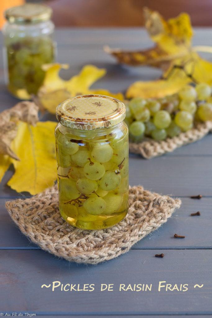 pickles raisin frais - au fil du thym