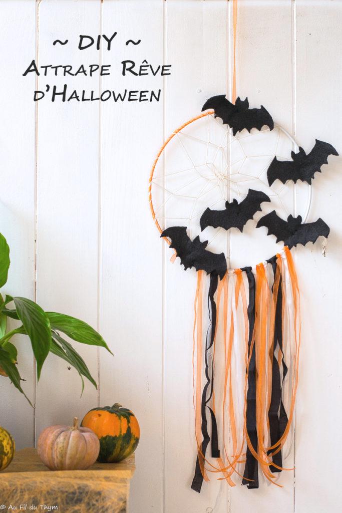 Attrape reve Halloween // Tutoriel Déco Halloween facile // Au Fil du Thym