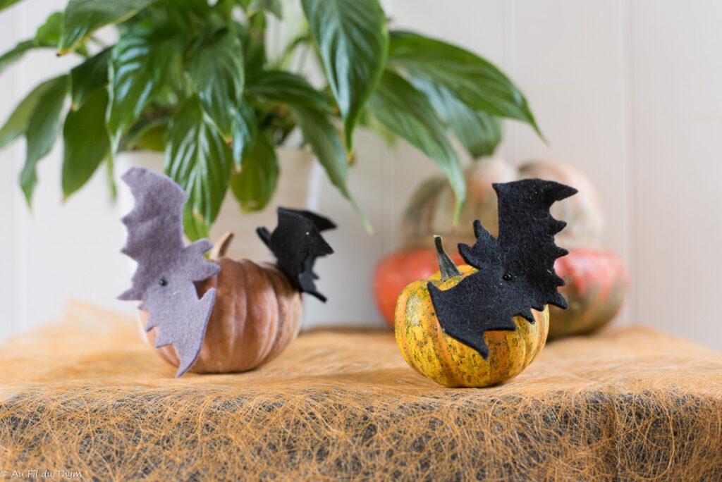 Décoration chauve souris Halloween - L'attaque des courges