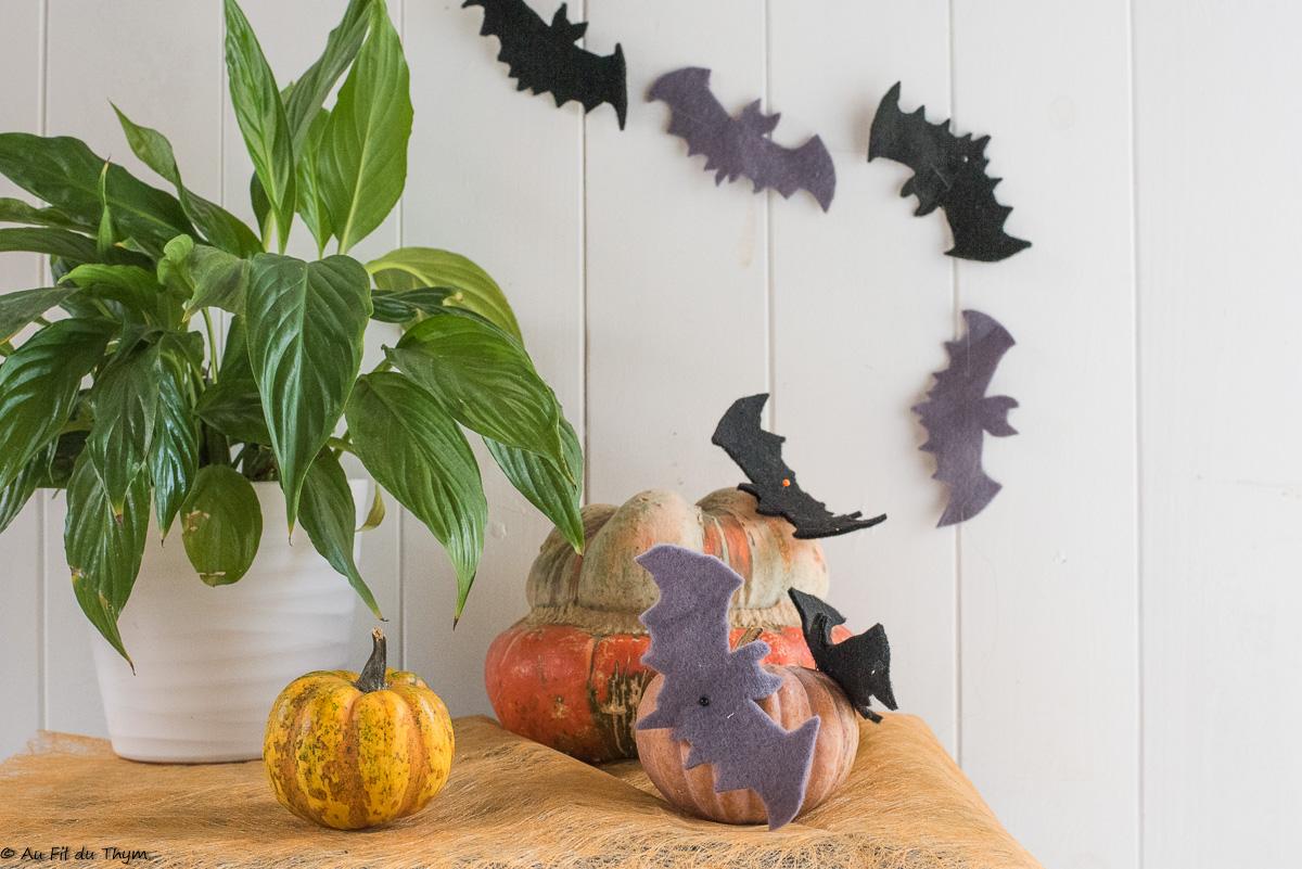 """DIY – Deux idées de décoration """"chauve-souris"""" pour Halloween"""