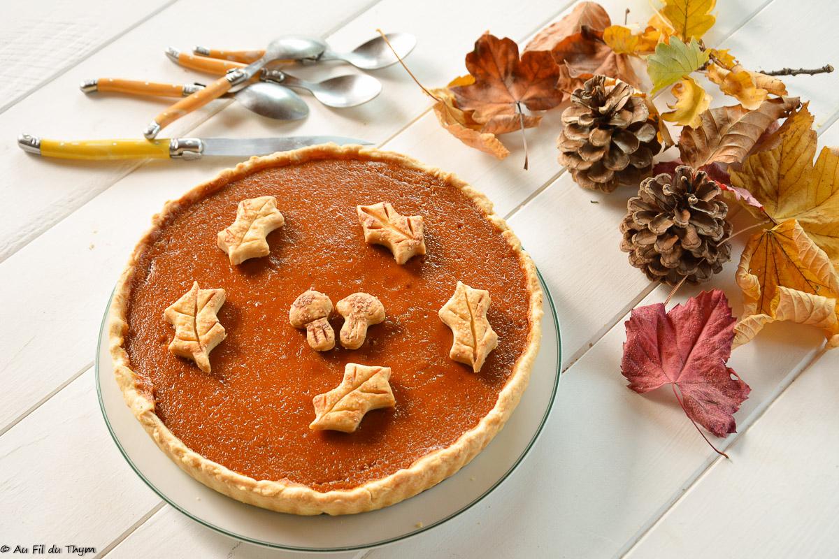 Tarte à la courge muscade (façon pumpkin pie)