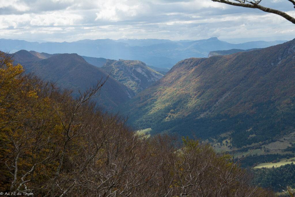 Vallée d'Omblèze // automne col bataille vercors