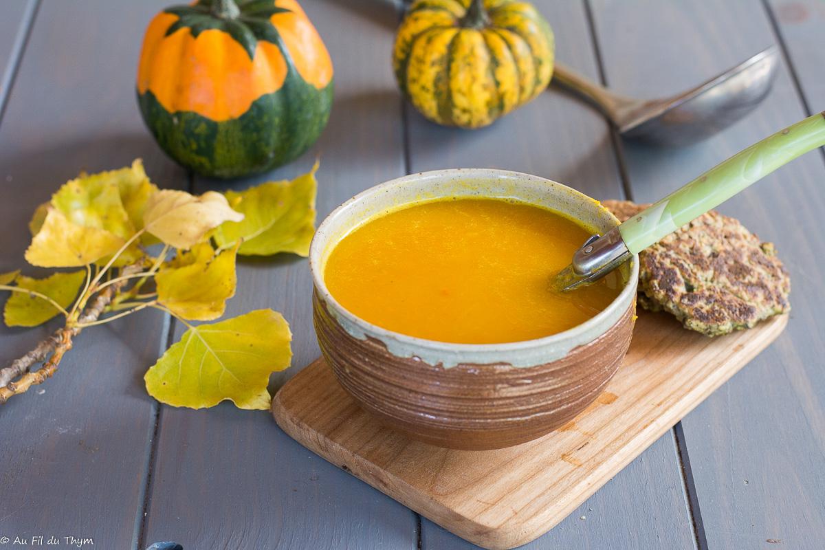 Soupe de potimarron, fenouil et curry